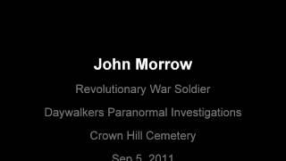 EVP session with John Morrow- American Revolutionary War Soldier