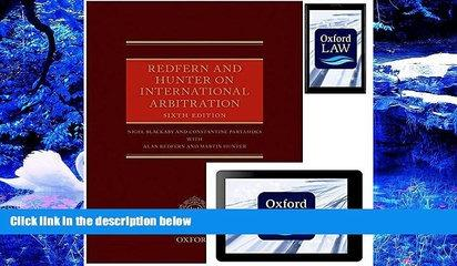 DOWNLOAD EBOOK Redfern and Hunter on International Arbitration (Hardcover, eBook, and Android App)