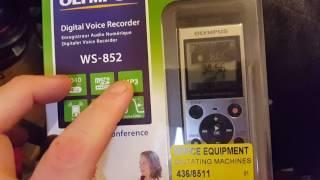 Olympus Digital Voice Recorder. WS-852. EVP. Ghost recorder!