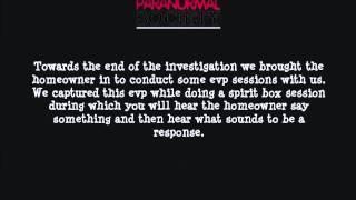 DPS - Private Home Investigation