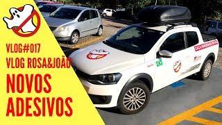 VIATURA CAÇA FANTASMAS NOVOS ADESIVOS Vlog#017 Rosa&João - Caça Fantasmas Brasil