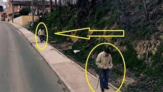 old man at different points the photo was snapped   Creepy Stuff On Google Maps