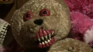 Very Creepy Bloody Haunted Talking Teddy Bear filmed and spotted in real life.