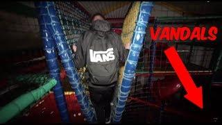 CHAVS DESTROY AN ABANDONED INDOOR PLAY PARK