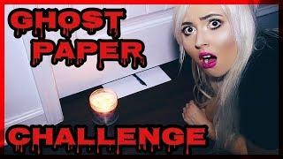 SCARY GHOST PAPER CHALLENGE AT 3AM!!