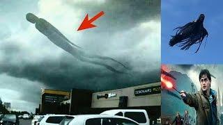Demonic Humanoid Figure Appears In Clouds