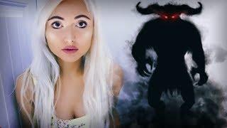 SUMMONING A DEMON INSIDE MY CLOSET.. SCARY PARANORMAL GAME
