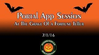 Portal Ghost Box App Session at the grave of a Fortune Teller on 7/1/16