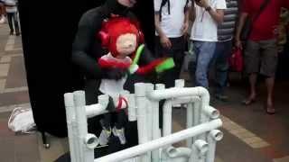 Amazing Drum Skills by Cute Monkey at Pasar Seni