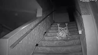 Ghost hunters 'capture moment POLTERGEIST throws pushchair down stairs'