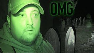 Inside Haunted Cemetery At Night (Real Paranormal Activity) | Haunted Finders