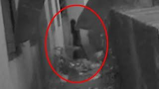 Ghost Shadow Caught On Camera Near An Abandoned House!!