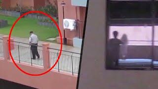 Ghost Shadow Caught CCTV Camera!! Ghost Sightings