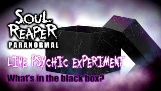Soul Reaper Paranormal | Live Psychic Experiment | What's In The Black Box?