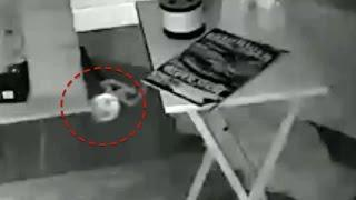 Alien Orb or Spirit Caught On Security Camera Moving About House