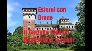 Il Castello Clonato Rovasenda Vercelli Esterno con Drone Parte Prima