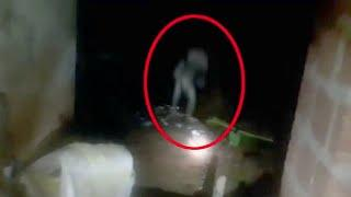An Alien Like Creature Wandering Outside A House At Night Caught On Tape!!