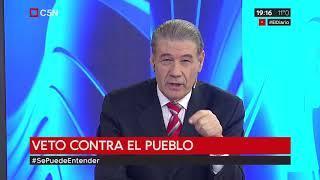 Víctor Hugo Morales contra Vidal y Macri - el veto contra el pueblo