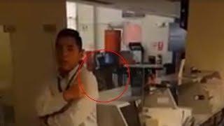 Sobrecogedor vídeo muestra una niña fantasma en un banco de Perú