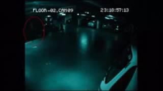 Ghost Caught on CCTV Camera   Parking Garage Security Camera Footage   Shocking Scary Ghost Sighting