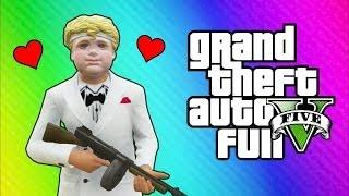 GTA 5 Online Funny Moments - Valentine's Day Massacre DLC, Kisses, Cupid Mask, Roosevelt Vehicle!