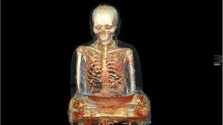 CT scan reveals mummy inside 1,000-year-old Buddha statue