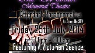 Webster Memorial Theatre Paranormal Investigation