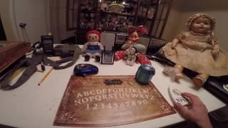 Spirit Box Ouija Session With Dolls, and Asking For Zozo Communication Part One Experiment