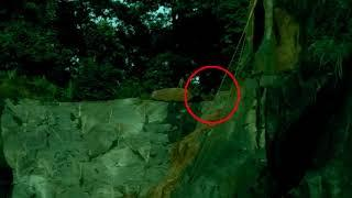 Real Ghost Caught On Tape Between Rocks In A Thick Forest | Ghost Sightings Recorded On Camera