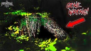 [ALMOST ATTACKED!!] Mysterious Structures FOUND in Deep Woods (One of Our SCARIEST Moments EVER)