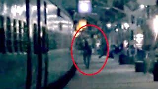 Ghostly Figure Passing Caught On Camera From Eerie Railway Station!!