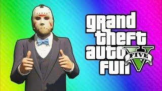 GTA 5 Online Funny Moments - Car Horn Orchestra, Freeze Glitch, New Lamborghini Car (High-Life DLC)