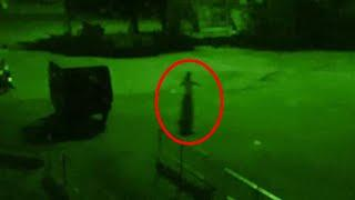 Ghostly Figure Spotted On main Road At Night !! Ghost Caught On CCTV Camera