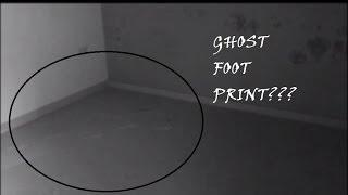 Ghost foot print caught on Camera!! Invisible ghost caught on tape