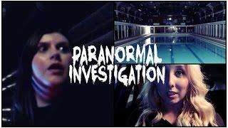 PARANORMAL INVESTIGATION IN HAUNTED SWIMMING POOL!   Ghostly Voices