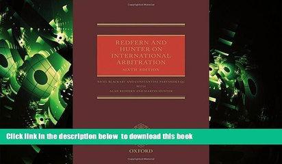 PDF [FREE] DOWNLOAD  Redfern and Hunter on International Arbitration BOOK ONLINE