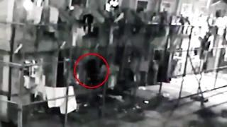 CCTV shows black ghost floating through walls at maximum-security prison