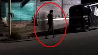 Strange Shadow Following A Man Caught on Camera!! GHOSTS!!