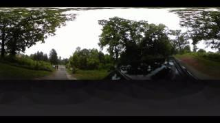 Pennhurst State School and Hospital 360 degree camera view as we drive in.