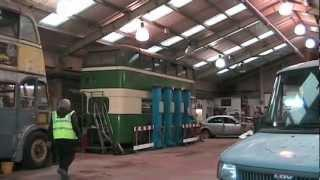 Barbara & Alan record the 2012 Wirral Bus & Tram Show