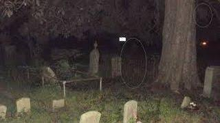 Real Ghost Shows Itself On Camera - Creepy Dark Haunted Graveyard Paranormal Activity