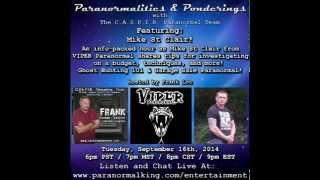 Paranormalities & Ponderings Radio Show featuring guest Mike St Clair - Ghost Hunting 101