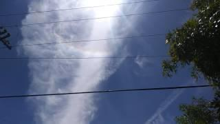 Upside down chemtrail rainbow cloud