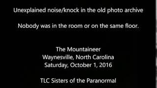 Audio -  Unexplained knock photo archive room