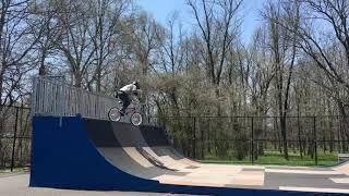 6ft drop in fail on bmx bike
