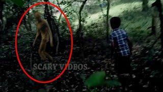 An Unclear Alien Like Figure Near A Boy Caught On Tape From Forest!! Alien Videos