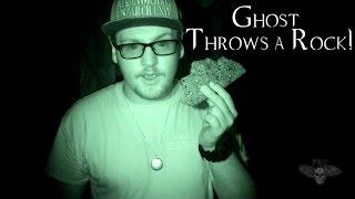 GHOST THROWS A ROCK!!! - Abandoned House, IN