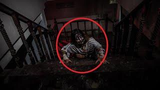 Ghost Sightings!! Unbelievable Ghost Shadow Caught On CCTV From Stairs