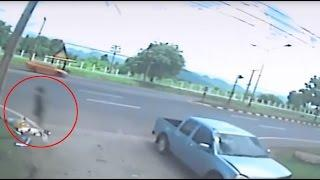 Vídeo muestra el alma de una niña abandonando su cuerpo después de un accidente de moto