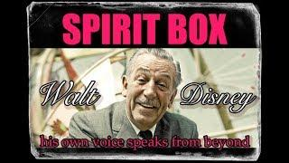 WALT DISNEY Spirit Box at DisneyLand! He ANSWERS ME, HIS OWN VOICE.